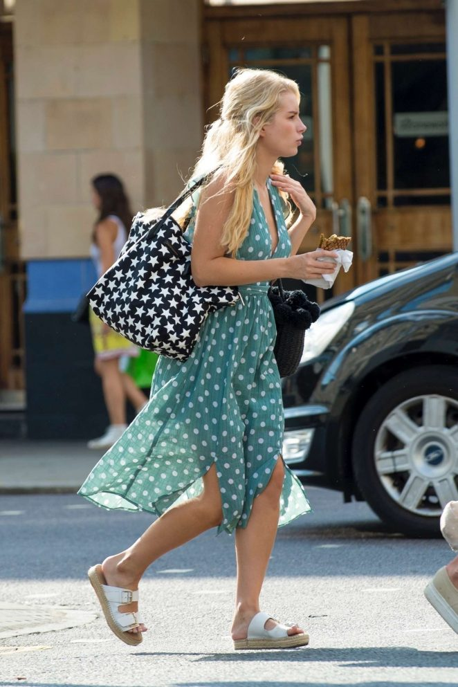 Lottie Moss in Long Dress – Out in Chelsea