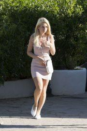 Lottie Moss in Mini Dress - Out in Ibiza
