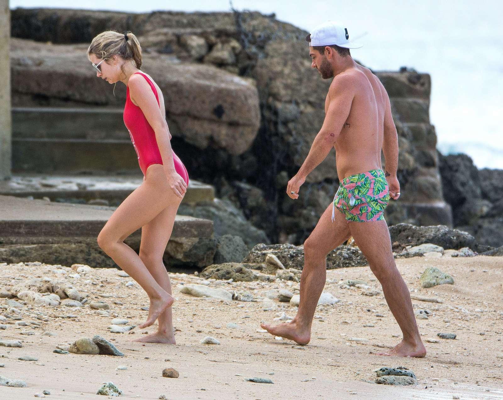 Lottie Moss in Red Swimsuit in Barbados   Lottie-Moss-in-Red-Swimsuit-2016--03