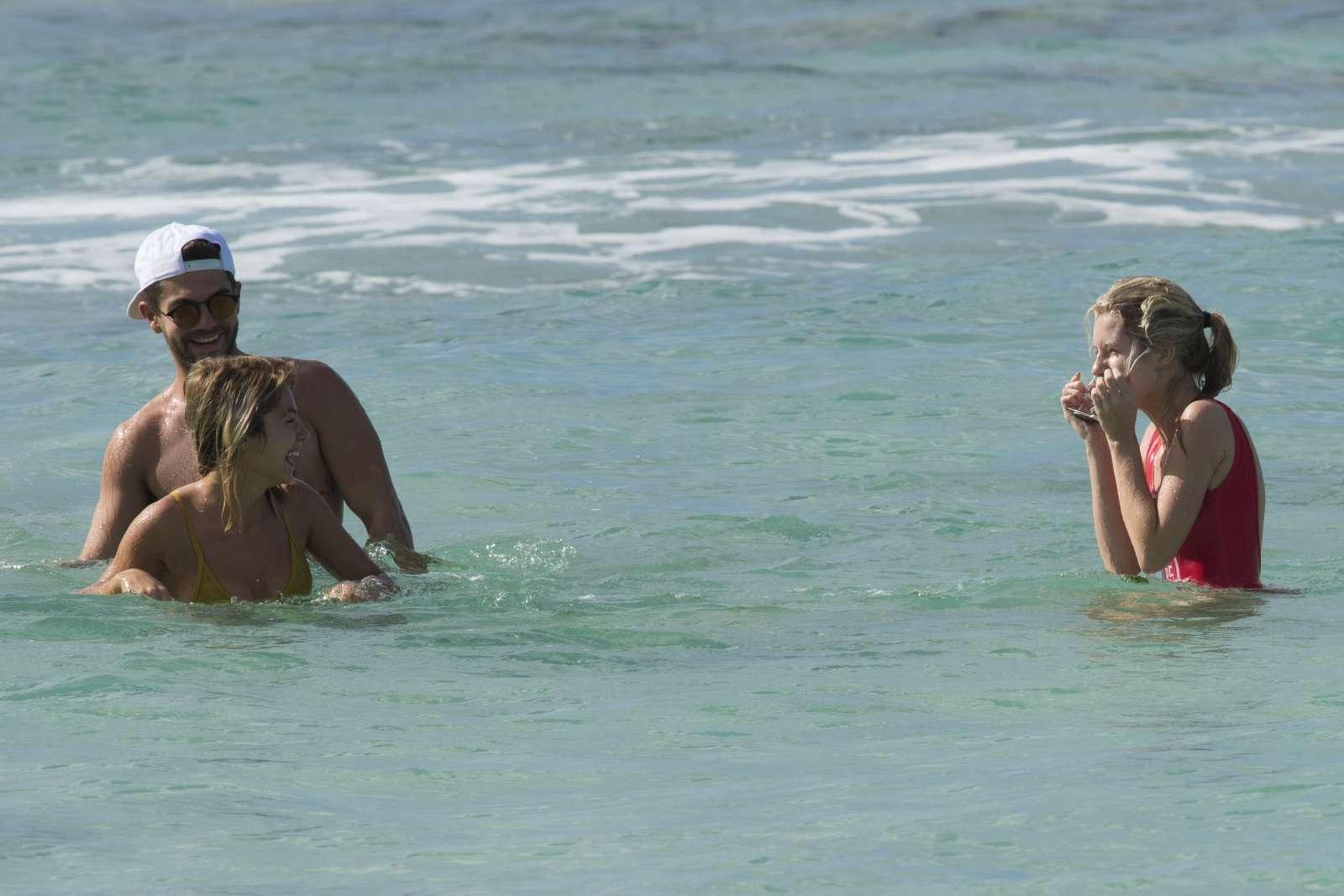 Lottie Moss in Red Swimsuit in Barbados   Lottie-Moss-in-Red-Swimsuit-2016--05
