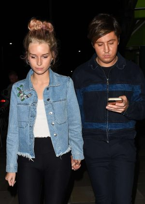 Lottie Moss Leaves Embargo night club in Chelsea