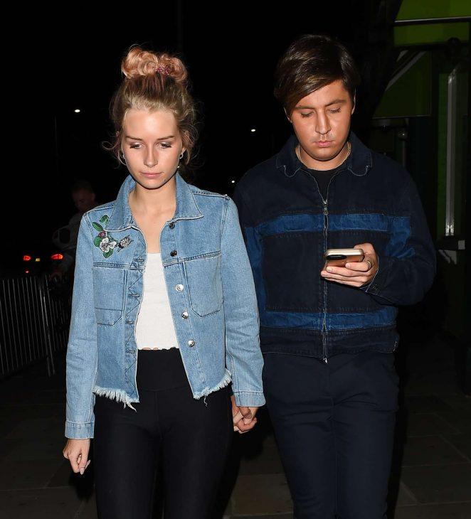 Lottie Moss Leaves Embargo night club in Chelsea