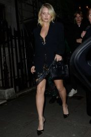 Lottie Moss - Leaving Annabels Private Members Club in London