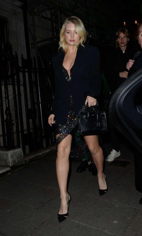 Lottie Moss - Leaving Annabels Private Members Club in London