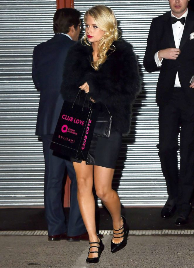 Lottie Moss – Leaving Elton John Aids Foundation Gala in London