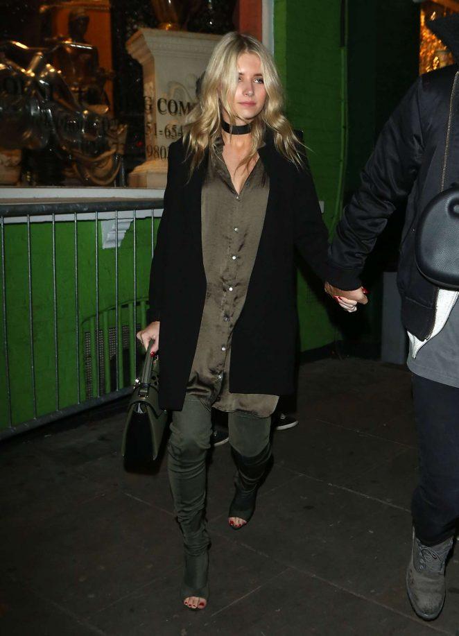 Lottie Moss - Leaving Embargo nightclub in London