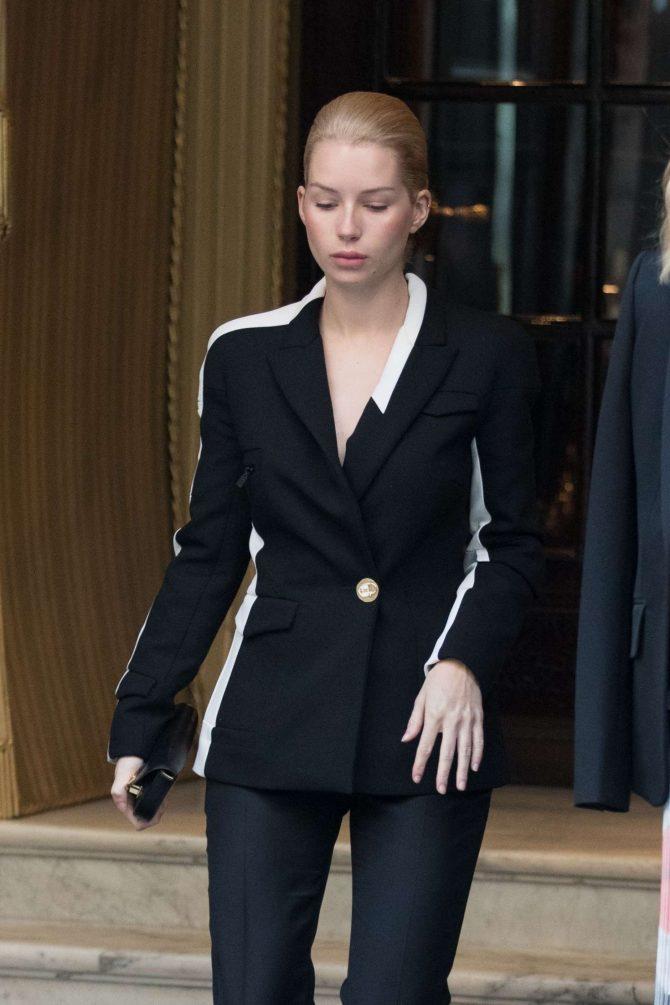 Lottie Moss – Leaving the Hotel Coste in Paris