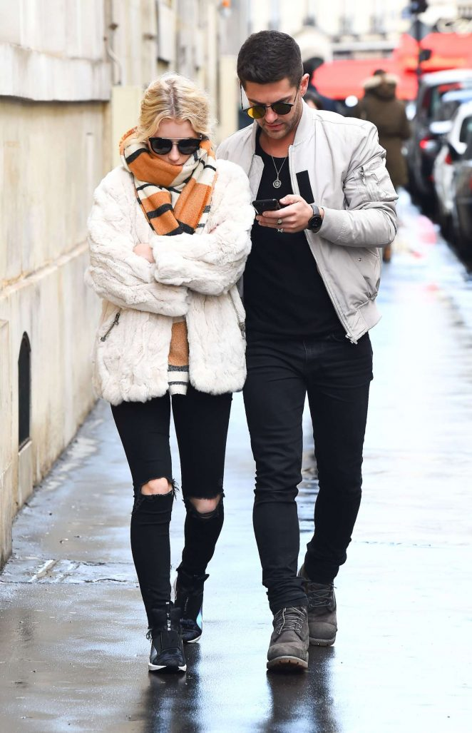 Lottie Moss with boyfriend Alex Mytton out in Paris