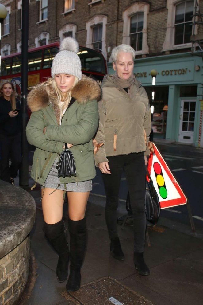 Lottie Moss with her mother Inger Moss – Leaving Gola restaurant in London