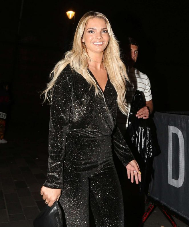 Louisa Johnson - Arrives at Little Mix's 'LM5' Album Launch Party in London