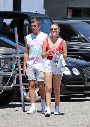 Louisa Johnson in Short Shorts Out Shopping in Hollywood ...