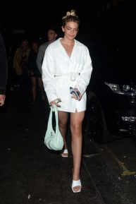 Louisa Johnson - Leaving the Sintallite Party in London