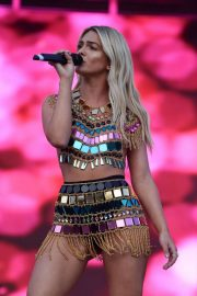 Louisa Johnsonin her Bejeweled outfit performing live at Manchester Pride