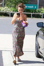 Louisa Lytton in Summer Dress - Out in London