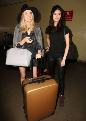 Louisa Warwick and Jessica Barta at LAX Airport in LA