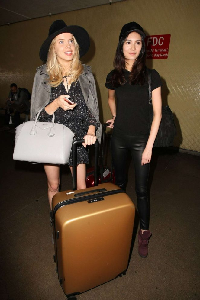 Louisa Warwick and Jessica Barta at LAX Airport in LA
