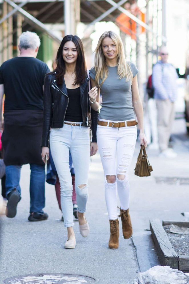 Louisa Warwick and Jessica Barta Lam out in New York