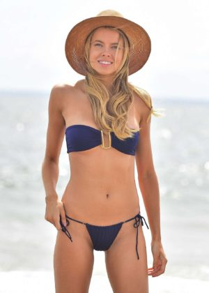 Louisa Warwick - Bikini photoshoot at the beach in Montauk