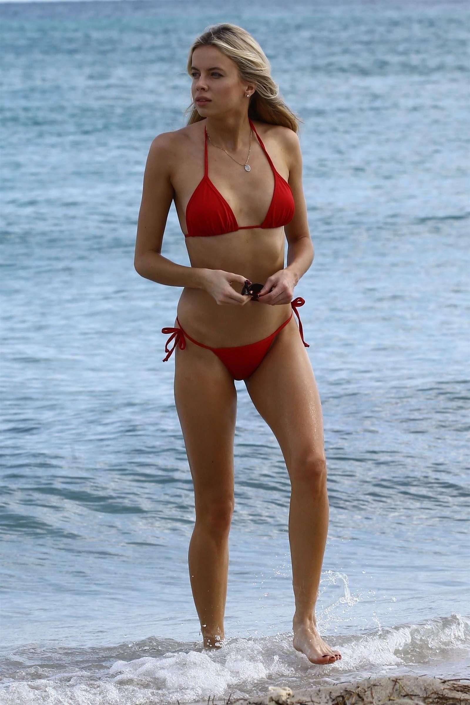Louisa Warwick 2017 : Louisa Warwick in Red Bikini 2017 -01