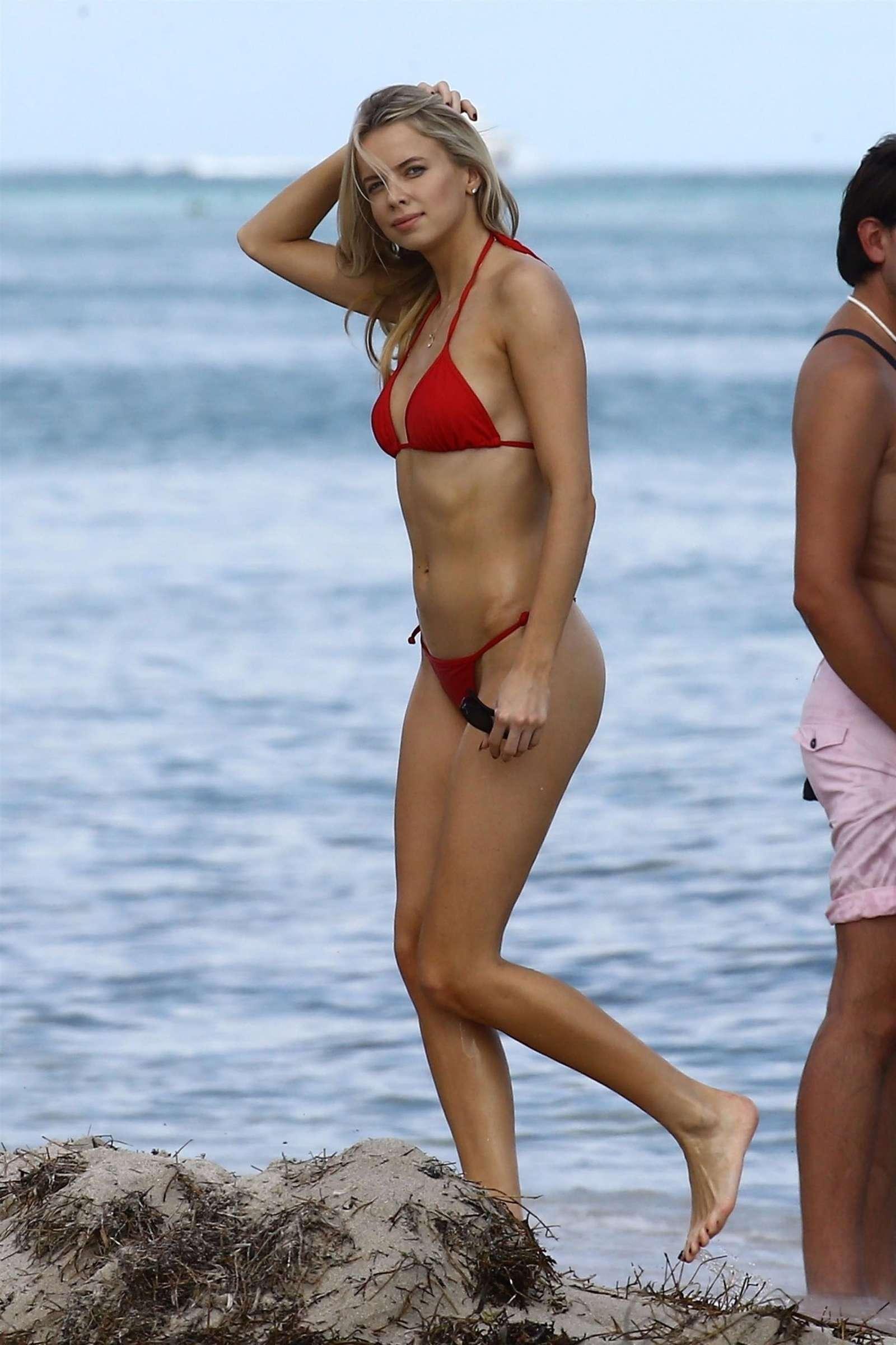 Louisa Warwick 2017 : Louisa Warwick in Red Bikini 2017 -18