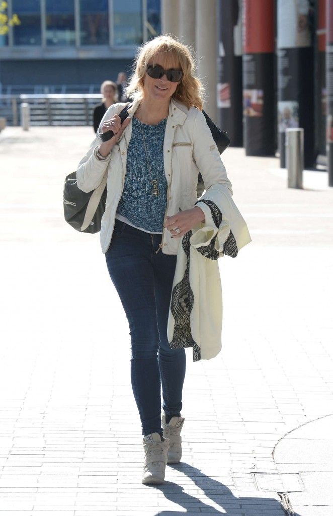 Louise Minchin in Tight Jeans at BBC Media City in London