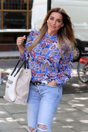 Louise Redknapp - Arrives at Build TV in London