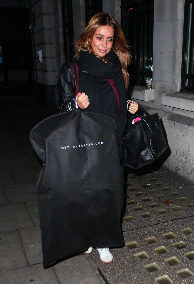 Louise Redknapp - Arrives at radio 2 in London