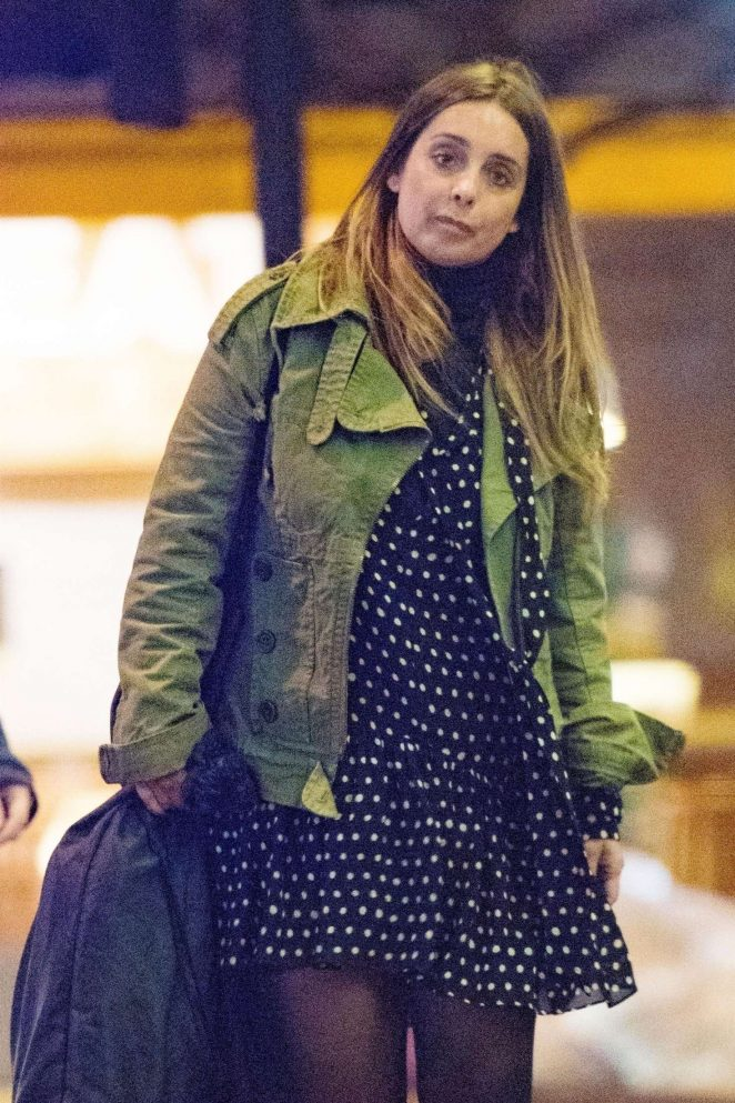 louise redknapp  u2013 leaving her management offices in london