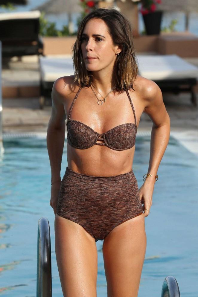 Louise Roe in Bikini on holiday in Marbella