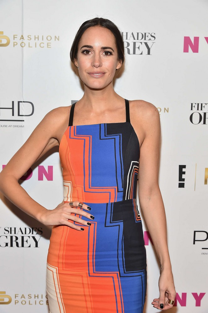 Louise Roe – NY Fashion Week Kickoff With Fifty Shades Of Fashion Event in NY