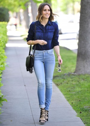 Louise Roe in Jeans Out in Long Island