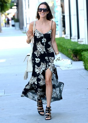 Louise Roe in Long Dress Out in LA