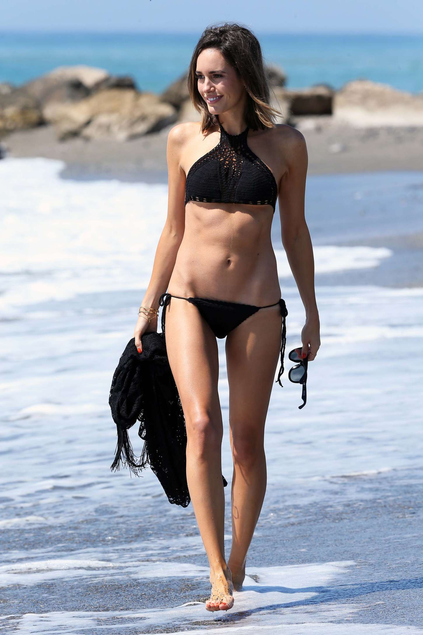 Louise Roe 2015 : Louise Roe in Black Bikini -02