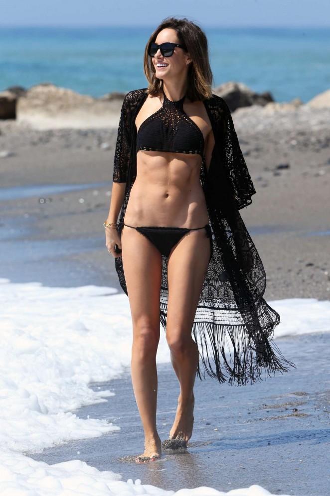 Louise Roe in Black Bikini -04