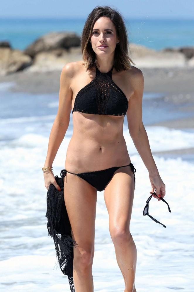 Louise Roe in Black Bikini -10