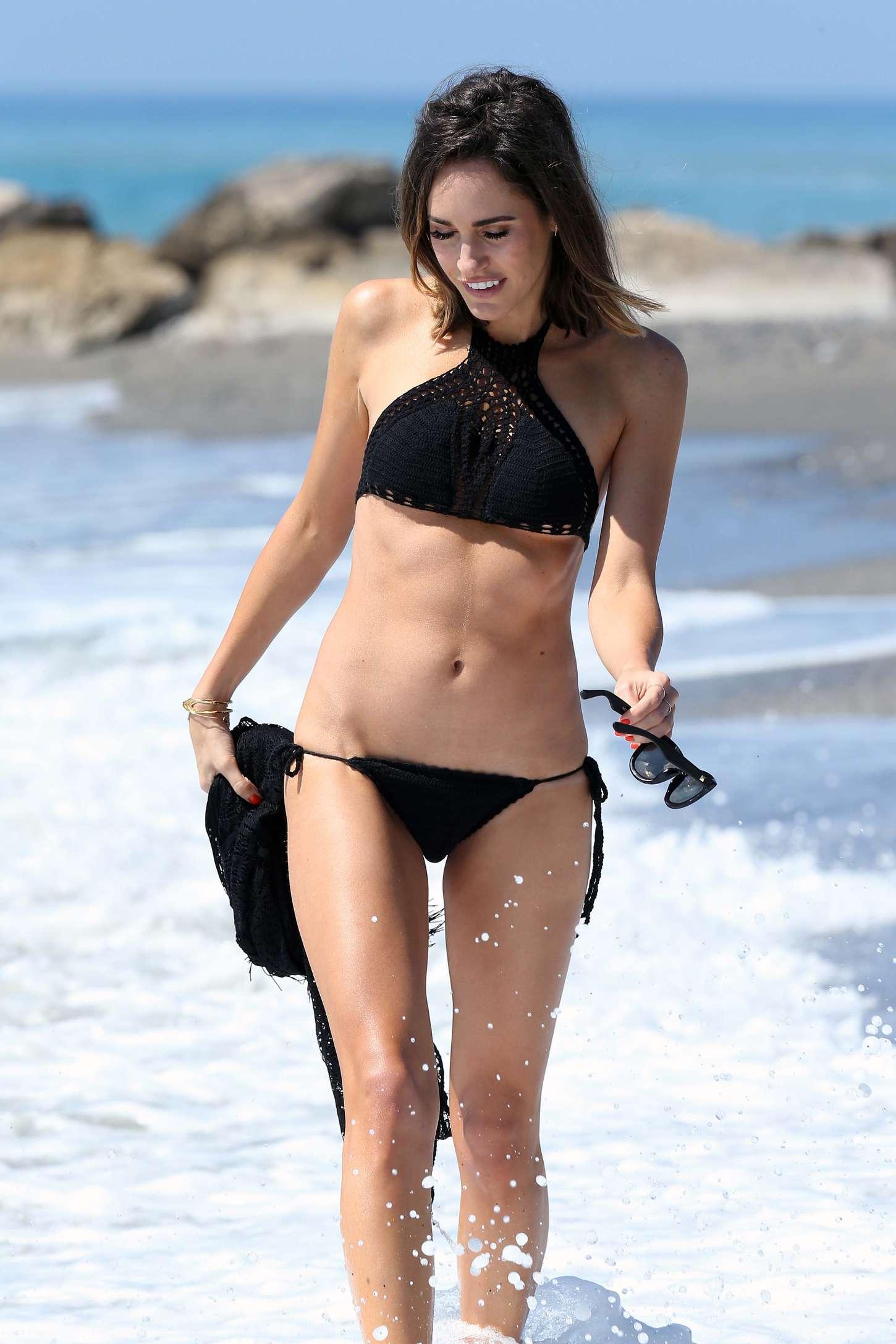 Louise Roe in Black Bikini -11
