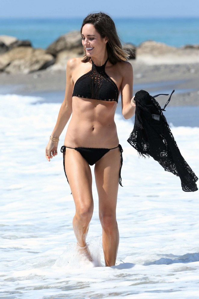 Louise Roe in Black Bikini -18