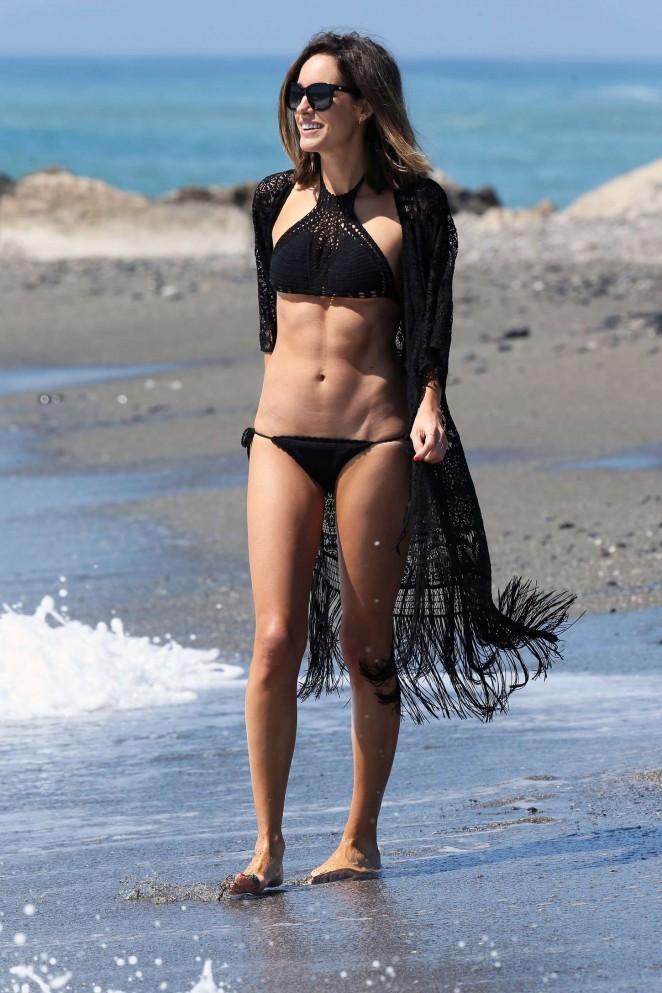 Louise Roe in Black Bikini -26