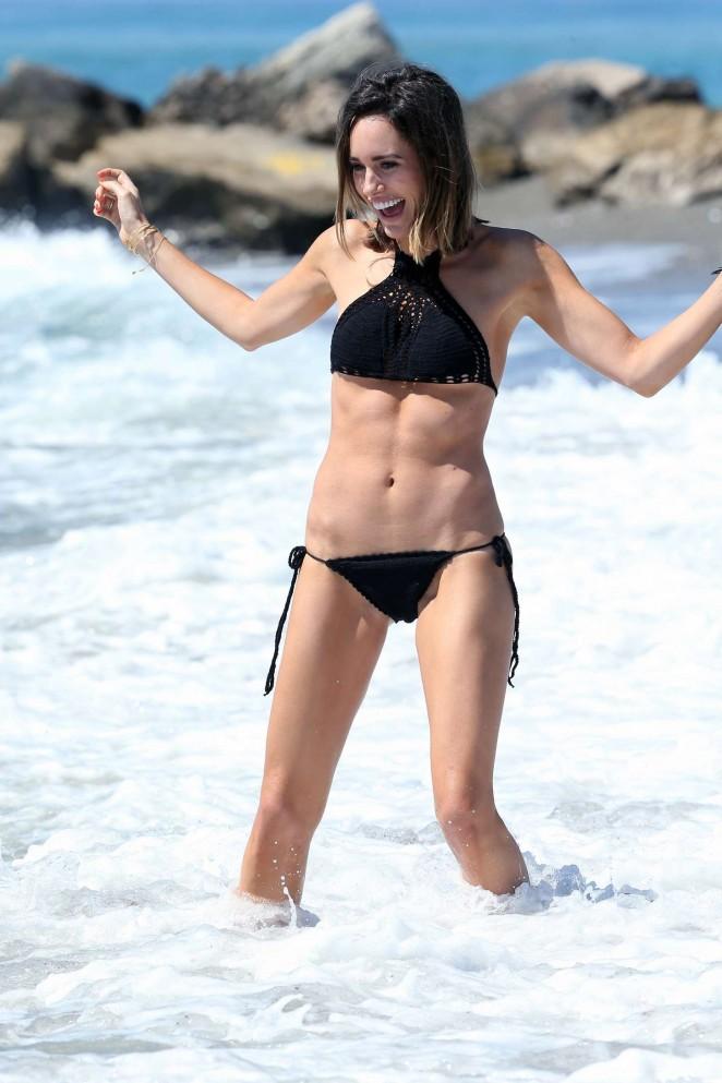 Louise Roe in Black Bikini -31