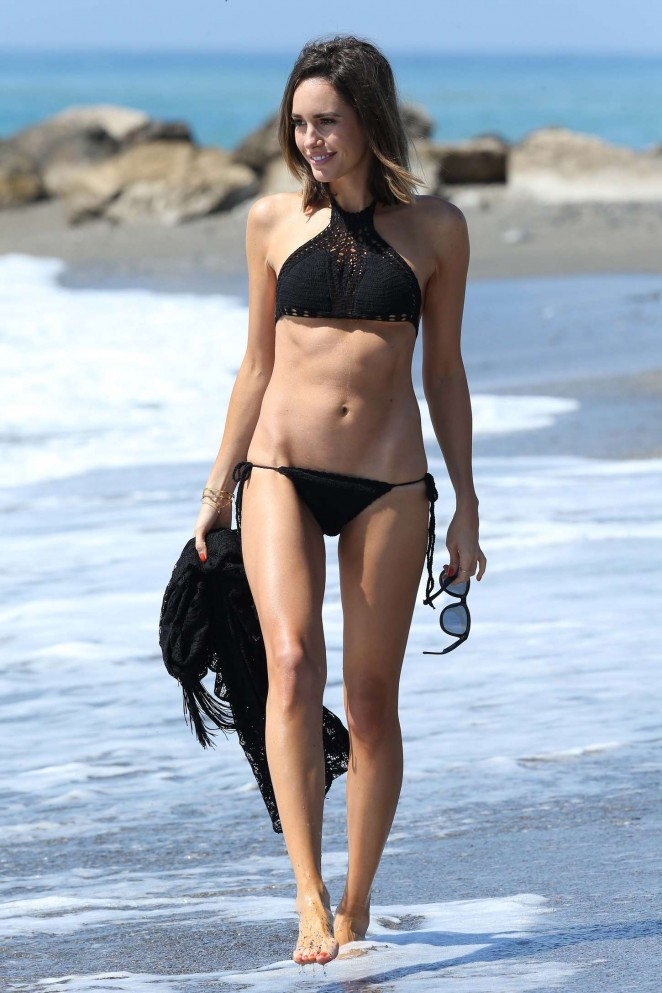 Louise Roe in Black Bikini -38