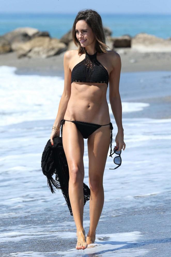 Louise Roe in Black Bikini -38