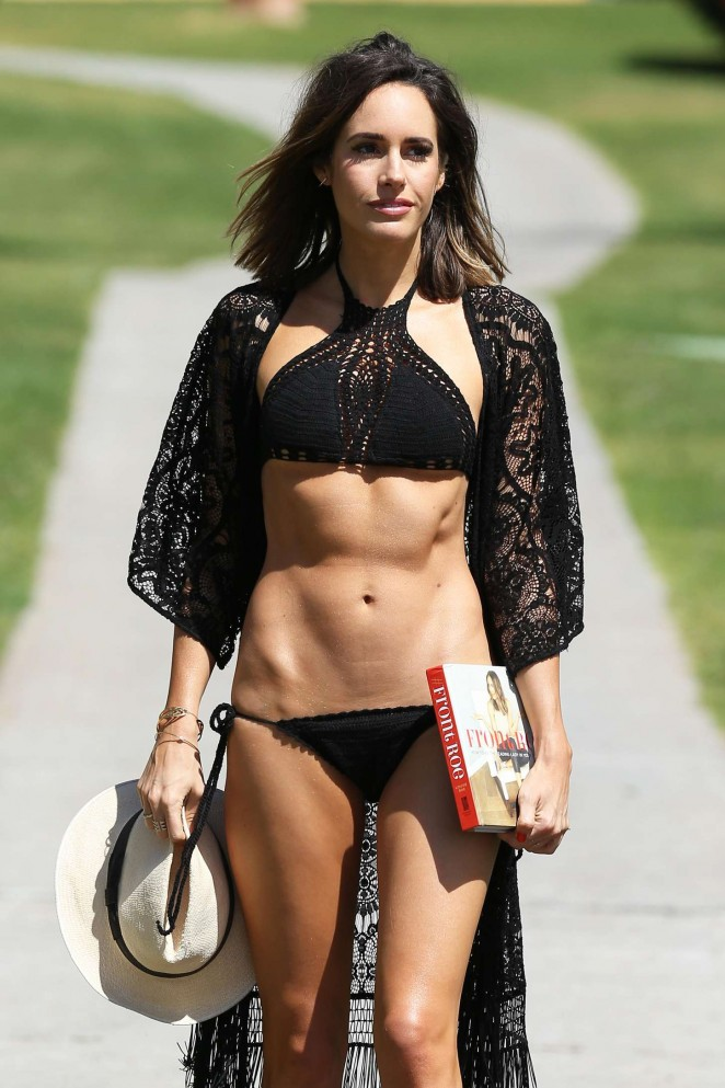 Louise Roe in Black Bikini -39