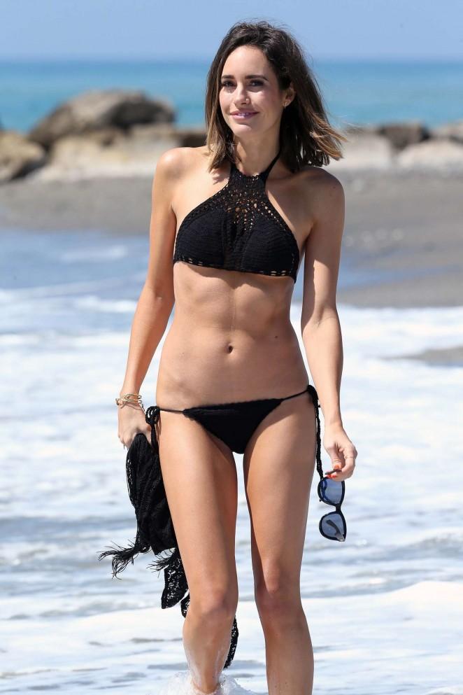 Louise Roe in Black Bikini -45