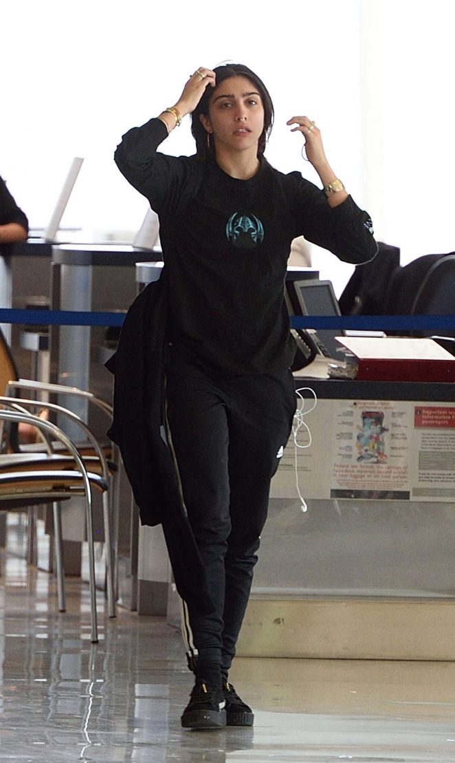 Lourdes Leon at LAX Airport in Los Angeles