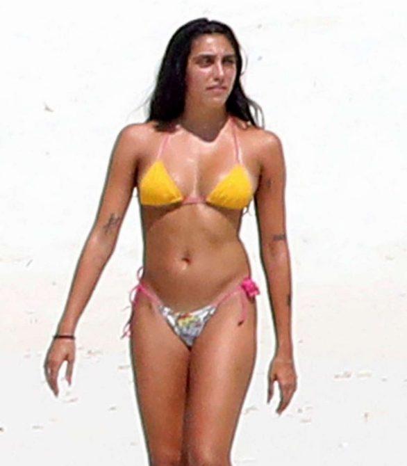 Lourdes Leon in Bikini on the beach of the Maldives