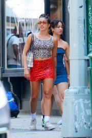 Lourdes Leon in Mini Skirt - Shopping in SoHo