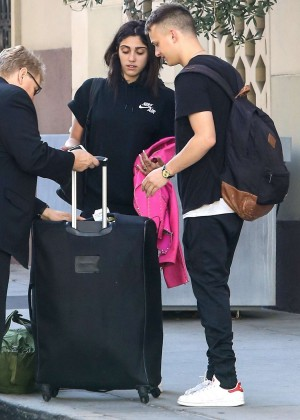 Lourdes Leon-  Leaves Hotel With Boyfriend in NYC