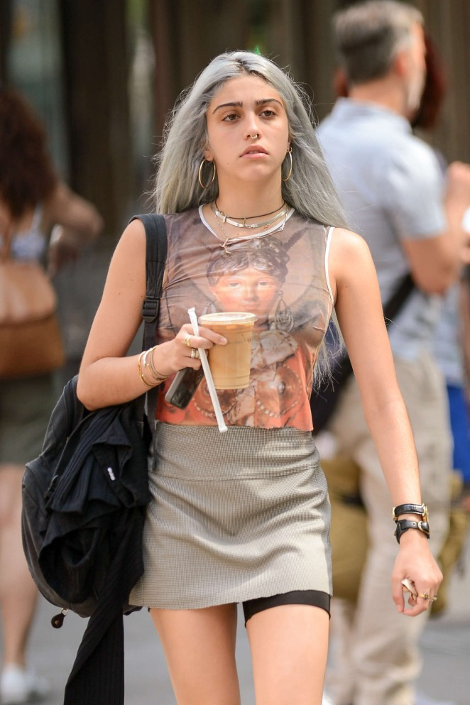 Lourdes Leon in Mini Dress out in NYC