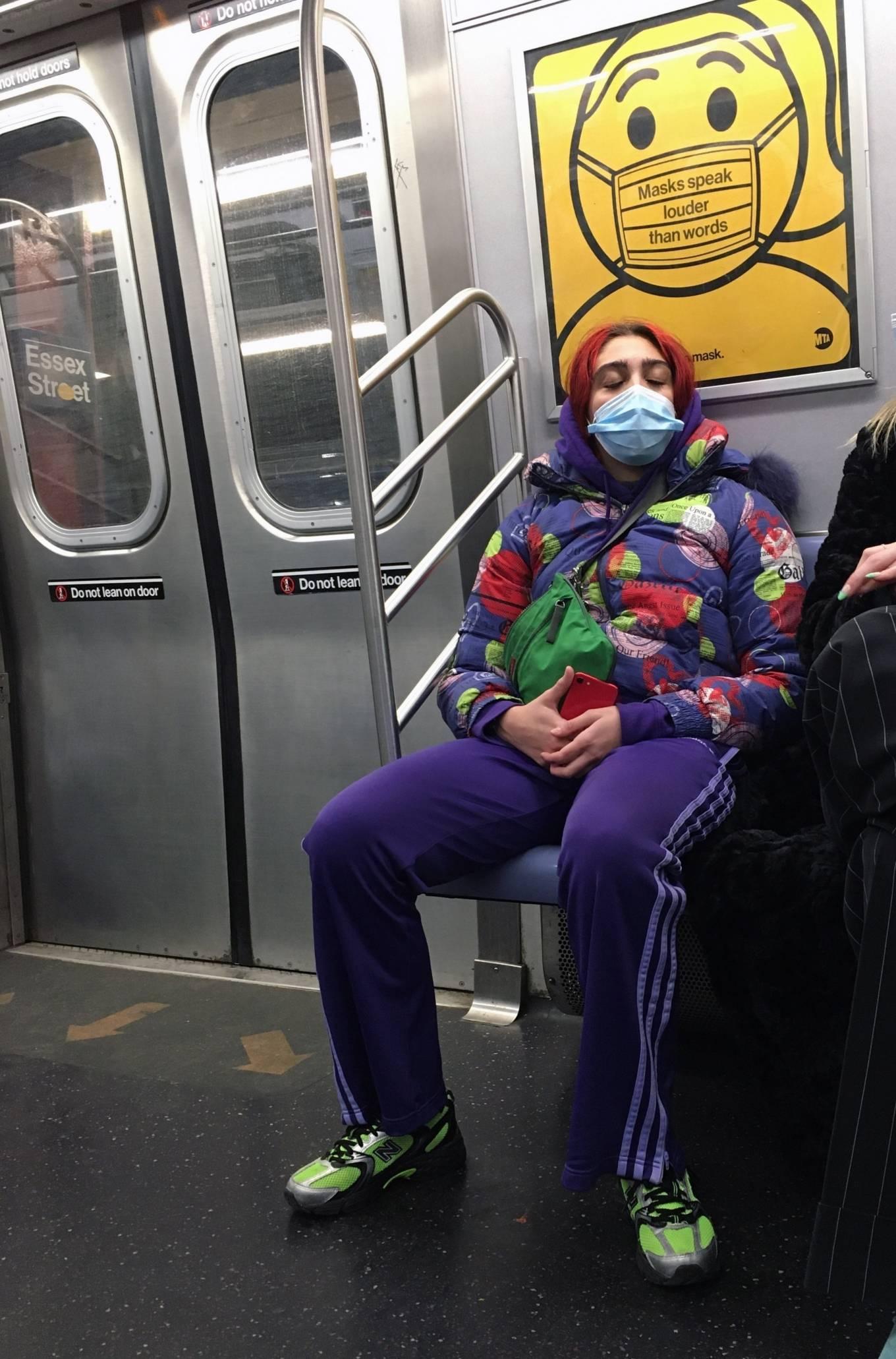 Lourdes Leon - taking the Subway to Brooklyn