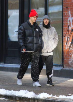 Lourdes Leon with a friend out in Manhattan